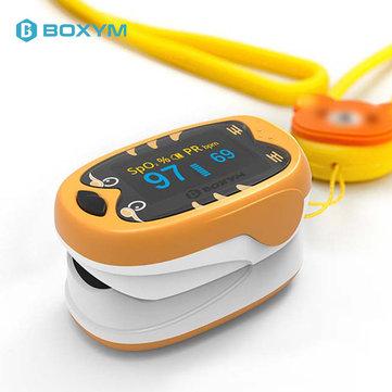 BOXYM Okids Baby Finger Pulse Oximeter Pediatric OLED Display Rechargeable Finger Blood Oxygen Saturometro Heart De Oximeter