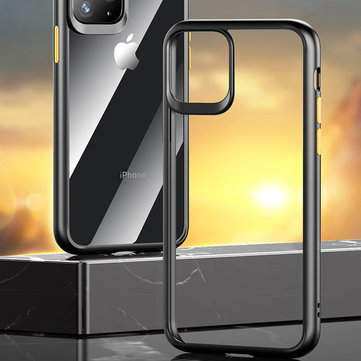 Rock Armor Shockproof Transparent Soft TPU+Hard PC Protective Case for iPhone 11 Pro 5.8 inch