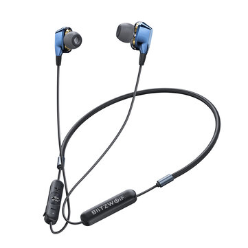 BlitzWolf� BW-BTS4 Dual Dynamic bluetooth 5.0 Neckband Earphone
