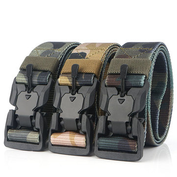 AWMN S5S 125cm Nylon Camouflage Tactical Belt Plastic Magnetic Buckle Belt