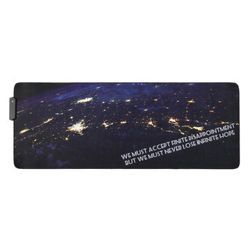 The Space USB Wired RGB Colorful Backlit LED Mouse Pad...