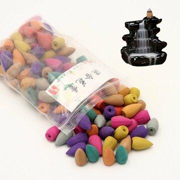 130Pcs/Bag Backflow Incense Cones Mix Fragrance Home Furnace Burner Fragrant Incense