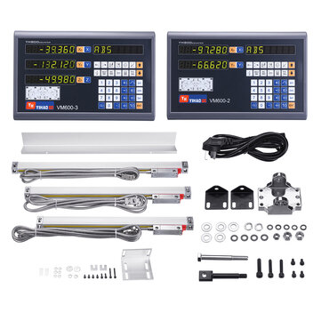 YIHAOGD YH 2 or 3 Axis Grating CNC Milling Digital Readout Display DRO or TTL 50 1100mm Electronic Linear Scale Encoders Lathe Tool