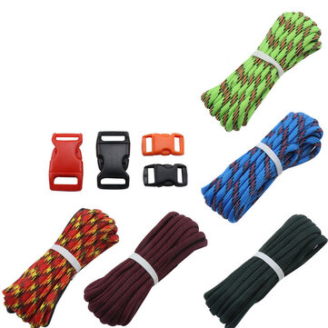 IPRee® 5Pcs/set Outdoor EDC DIY Paracord Parachute Rope Cord Lanyard Survival Bracelet Knit Weaving Toos Kit With Buckle