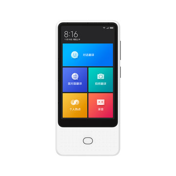 Xiaomi Mijia AI Voice Translator 18 Languages Two Way Translation 4.1 inch Large Screen 8 Languages Online Photo Translator