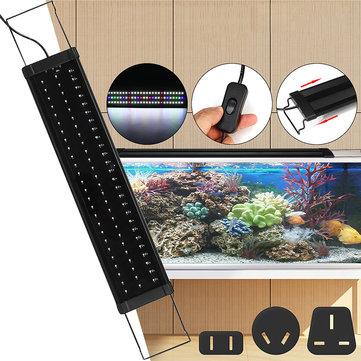 Para 65-70 CM RGB 78LED Acuario Luz de tanque de peces Acuario Soportes extensibles ligeros US / AU / UK