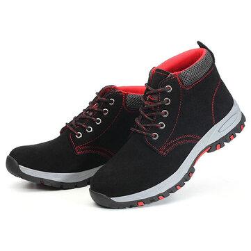 נעלי בטיחות גברים כובע הבוהן פלדה מאמני מגן מגפי נעלי הליכה