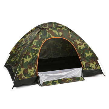 Portable Double Door Folding Tent 2-3People Waterproof Fully Automatic Tent Outdoor Camping Hiking Traveling Tent Sunshade