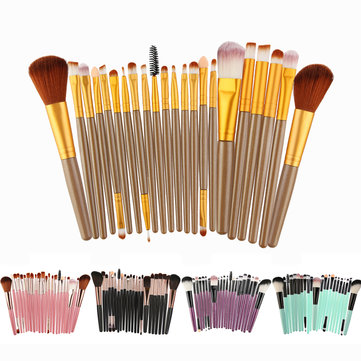 Buy 22Pcs Makeup Brushes Set Eyeshaow Blush Cream Powders Foundation Ended Brush Tool with Litecoins with Free Shipping on Gipsybee.com