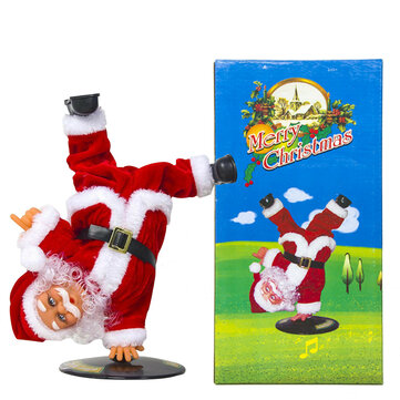 Xmas Ornaments Electronic Musical Dance Santa Claus Doll Christmas Decoration Action Figure Model Toy