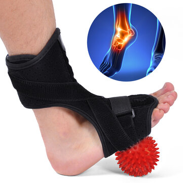 Fascite plantare Night Splint Drop Foot Support Ortesi Brace con Hard Spiky Massaggio Ball per un efficace sollievo dal tendine di Achille Dolore del tallone Plantare Fascia Drop Foot Bendable Striscia di alluminio