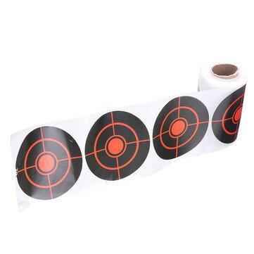 100ピース/ 250ピース7.5センチ幅ロール射撃粘着ターゲット紙ターゲット狩猟射撃トレーニングステッカー