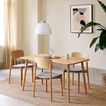103° Series Solid Wooden Rounded Dining Table Stable Anti-scratch Rounded Corner Wooden Table from Xiaomi youpin
