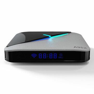 A95X F3 Hava S905X3 4 GB RAM 32GB ROM 5G WIFI bluetooth 4.0 Android 9.0 4 K 8 K TV Kutu ile 6 RGB Işık