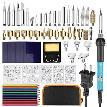 72pcs Wood Burning Pen Set Tips Stencil Soldering Tools Pyrography Crafts Kit Soldering Iron Kit