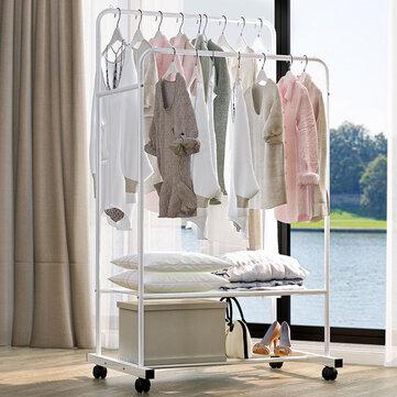 81X37X4CM Floor Cloth Wardrobe Hanger Holder Iron Metal Clothes Organizer
