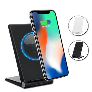 Type-C 15W Dual Coils Qi Wireless Charger Fast Charging Desktop Phone Holder For Qi-enabled Smart Phone iPhone XS Max Samsung Galaxy S10+