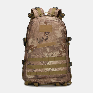 MenThree-level Backpack Mountaineering Shoulder Camouflage Waterproof Tactical Bag 3D Backpack