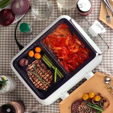 Nathome Multi-function Integrated Pot Electric Hot Pot Baking Tray from Xiaomi Youpin