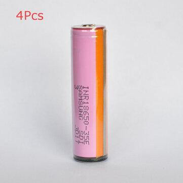 4本SAMSUNG INR18650-35E 18650パワーバッテリー3500mAh 20Aハイドレイン充電式リチウムイオンバッテリー(保護ボタントップ)懐中電灯E Cig電動自転車用