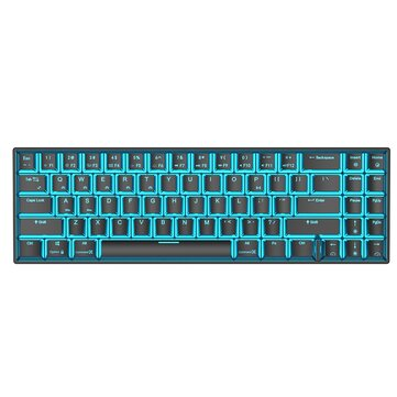 Royal Kludge RK71 71 Keys bluetooth3.0 Wireless USB Wired Dual Mode ICE Blue LED Backlight Mechanical Gaming Keyboard