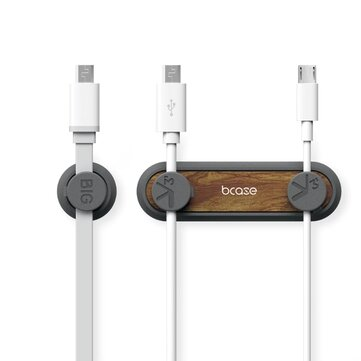 Bcase 5 in 1 Second Generation Magnetic Multi-function Wooden TUP Data Line Receiver USB Cable Earphone Wire Cable Organizer Cable Clips Wire Management from Xiaomi Youpin