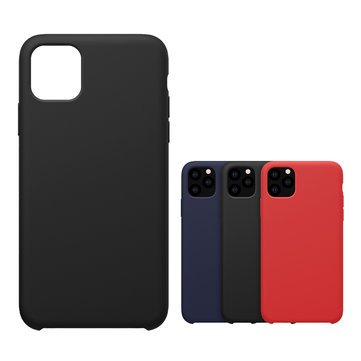 NILLKIN Smooth Shockproof Soft Liquid Silicone Rubber Back Cover Protective Case for iPhone 11 Pro 5.8 inch