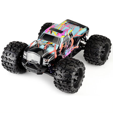 for $389.99 for Eachine EAT02 1/8 4WD 2.4G RC Car Brushless Big Foot High Speed 90km/h Drift Vehicle Models Truck Metal Chassis