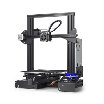 Creality 3D® Ender-3 V-slot Prusa I3 DIY 3D Printer Kit 220x220x250mm Printing Size With Power Resume Function / MK10 Extruder 1.75mm 0.4mm Nozzle