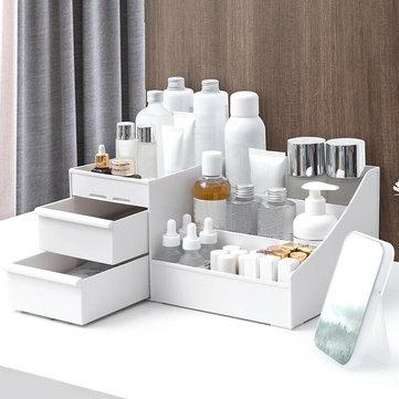 Plastic Cosmetic Organizer Makeup Case Holder Drawers Jewelry Parts Storage Box