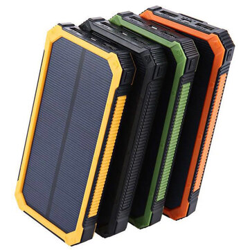 Bakeey 20000mAh DIY Grande capacità luce a led solare Custodia per power bank per iPhone X XS HUAWEI P30 Mate 30 5G Oneplus 7 Xiaomi Mi9 9Pro S10 + Nota 10 5G