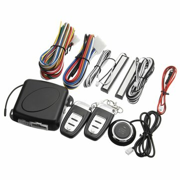Keyless Entry Engine Push Start Alarm System PEPS Remote Starter Stop Anti-theft for 12V Car SUV