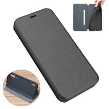 Bakeey Shockproof Flip with Stand Card Slot Full Body Brushed Leather Soft Protective Case for Xiaomi A3 / Xiaomi CC9e