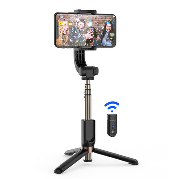 BlitzWolf® BW-BS12 One-Axis Gimbal Stabilizer bluetooth Remote Control Tripod with Anti-shaking Automatic Balance