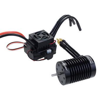 Surpass Hobby Waterproof F540 V2 Sensorless Brushless Motor with 60A ESC for 1/10 RC Vehicles