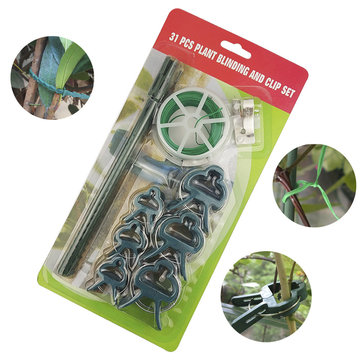 31pcs Garden Tie Set Plastic Grafting Clips Fastener Plant Vines Vegetable Tendril Clip Tree Fixation Strap