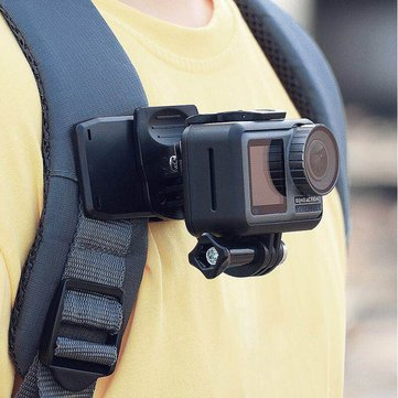 Action Camera Backpack Clip Mount 360 Degree Rotation For GoPro Hero 8/7/6/5 DJI OSMO Action FPV Camera