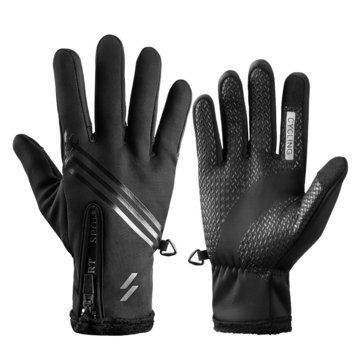 ROCKBROS Touch Screen Bike Gloves Windproof Anti-slip Cycling Riding MTB Bicycle Winter Warm Gloves
