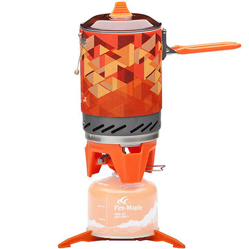 Fire-Maple FMS-X2 Camping Cooking System Stove with Electric Ignition Pot Support Jet Burner Pot System for Backpacking Camping Hiking Emergency Stove