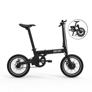 CMSBIKE XIAOKE 36V 250W Brushless Motor 158.4WH 16 Inches Black Folding Electric Bike 50KM Mileage Automatic CruiseSystem