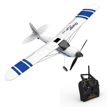$69.99 for VolanteX Super Cub 500 761-3 500mm Wingspan Beginner Self-stabilizing Stunt RC Airplane Fixed Wing with 6-Axis Gyro System RTF