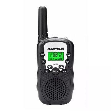4Pcs Baofeng BF-T3 Radio Walkie Talkie UHF462-467MHz 8 Channel Two-Way Radio Transceiver Built-in Flashlight Black