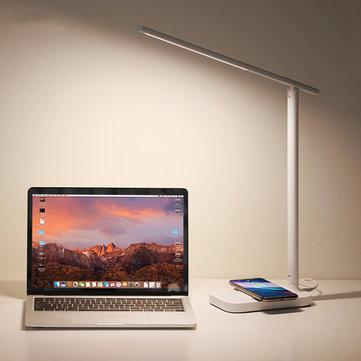 BASEUS T5 LED Table Lamp Wireless Charger For Phone Folding Desktop Light 10W Desk Lamp
