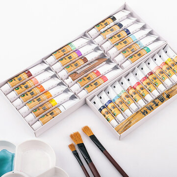 Marie's Chinese Painting Pigment 18/24/36 Colors Watercolor Paint Set Art Painting Drawing Pigments Profesional Art Painting Tools