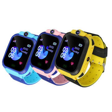 Buy Q12B GSM SIM Smart Watch Phone Touch Camera Locator Alarm Anti-lost for Kids Children with Litecoins with Free Shipping on Gipsybee.com