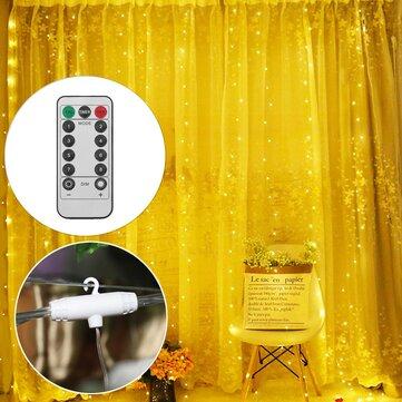 3M * 1M 3M * 3M USB LED Rèm cửa sổ Chuỗi ánh sáng với Hook Up Icicle Vòng hoa Giáng sinh Trang trí đèn cưới