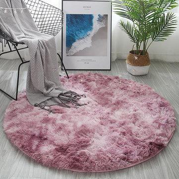 120cm Round Floor Mat Soft Plush Carpet Blanket Area Rug Cushion Home Decorations