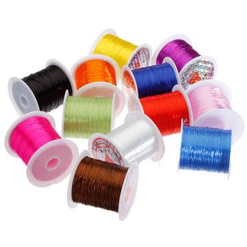 Rebordear elástico elástico fuerte hilo cuerda elástica de joyería de perlas de Buda