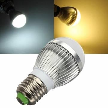 E27 Dimmable 3W Warm White/White AC 220V LED Globe Light Bulbs