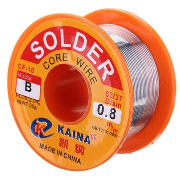 0,8 mm 50 g Bobina de Fio Núcleo de Solda Rosina 63/37 Fluxo de Chumbo e Estanho Soldador de Solda de Ferro
